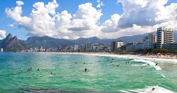 Sao Paulo Brazil beach swimming